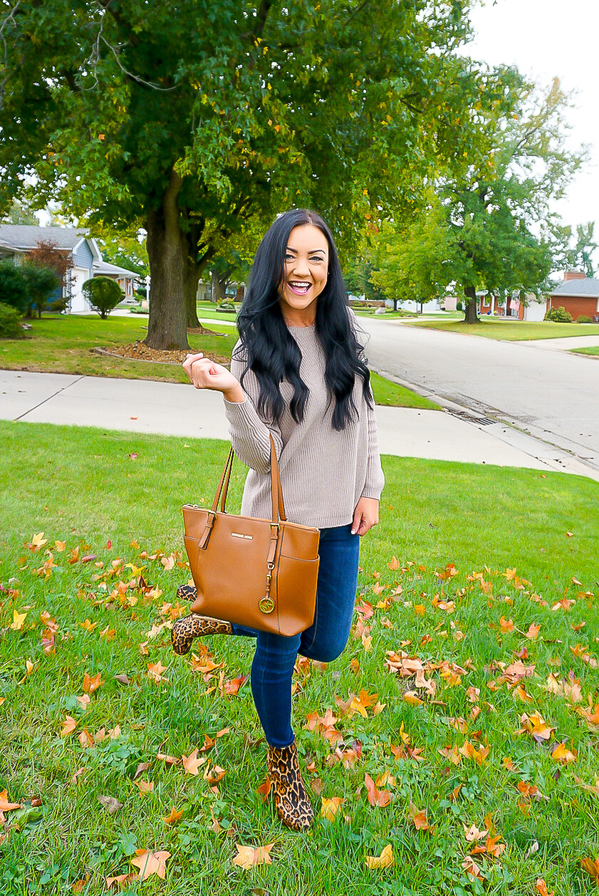 trendy fashion bloggers 2019, neutral winter outfits, neutral fashion tips, leopard is a neutral