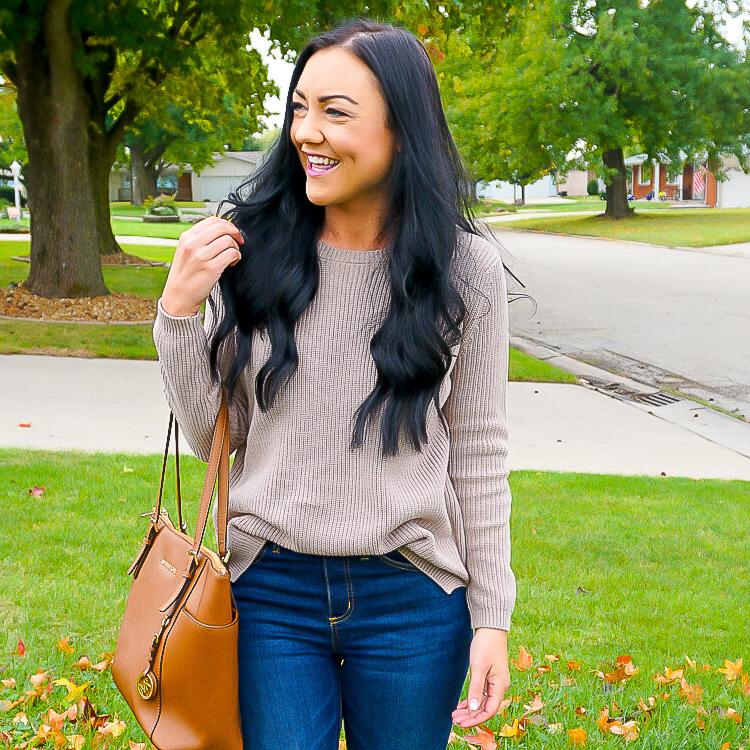best women's sweaters, tan sweaters for winter, preppy sweaters, preppy blogger, Illinois blogger