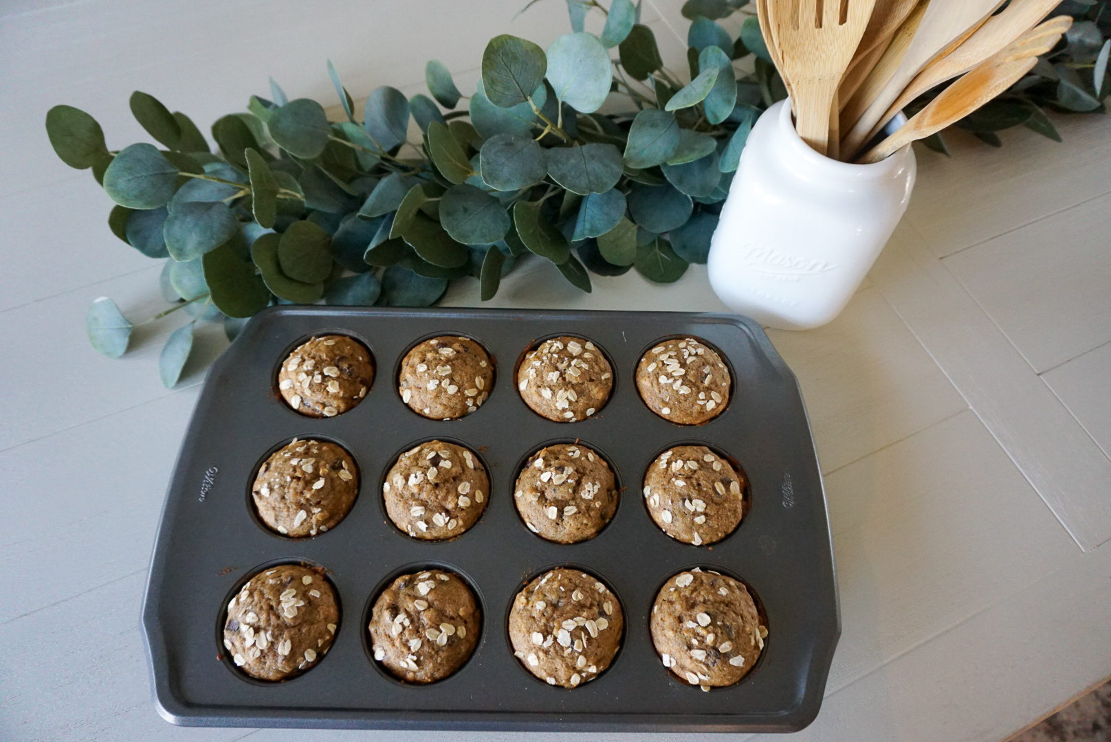 sprouted grain muffins, sprouted banana muffins, sprouted grain recipes
