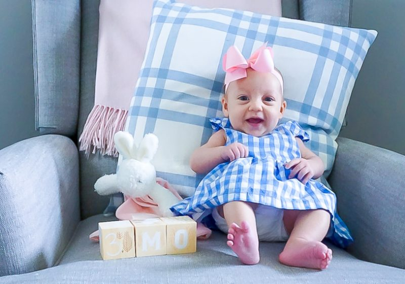 3 month old baby girl photo shoot