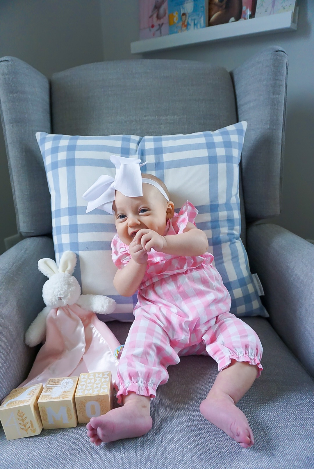 Janie and Jack baby clothing, baby girl romper, baby girl gingham outfit