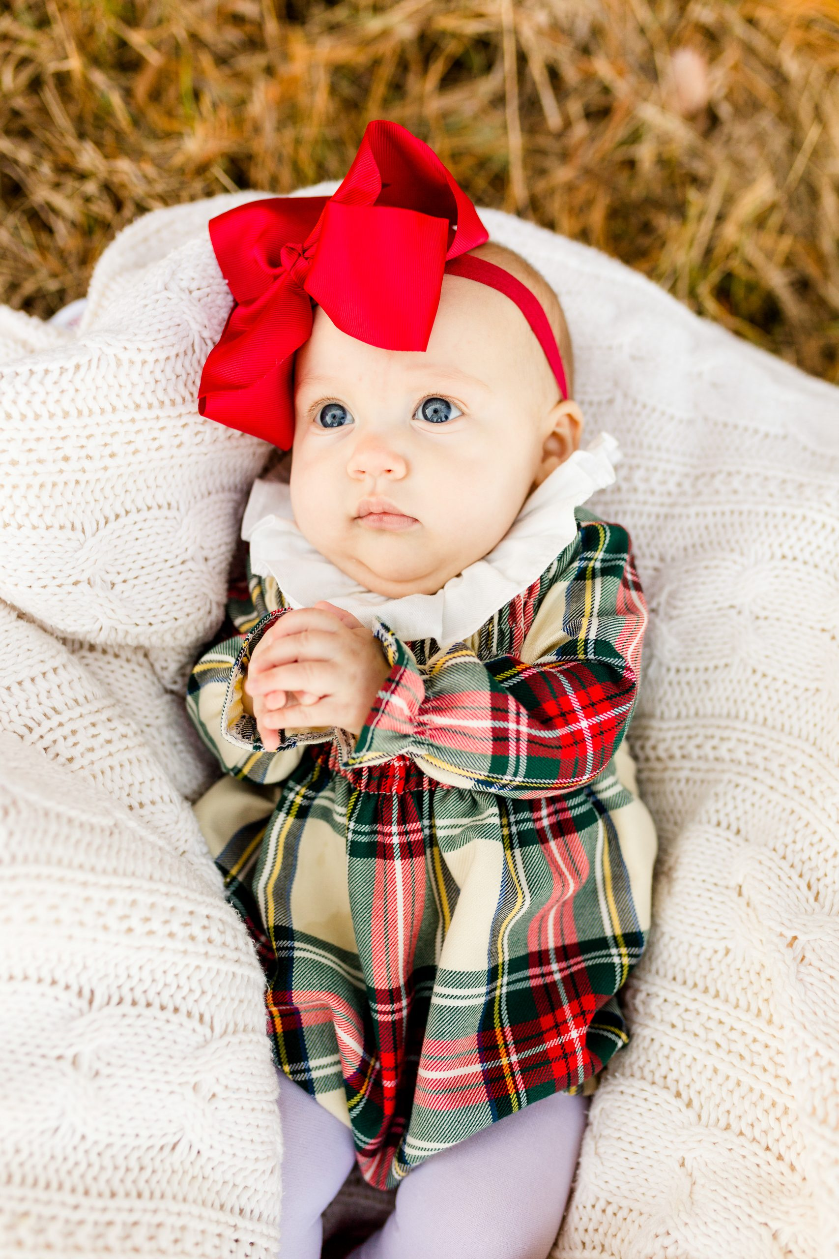baby Christmas photos, baby's first Christmas photos