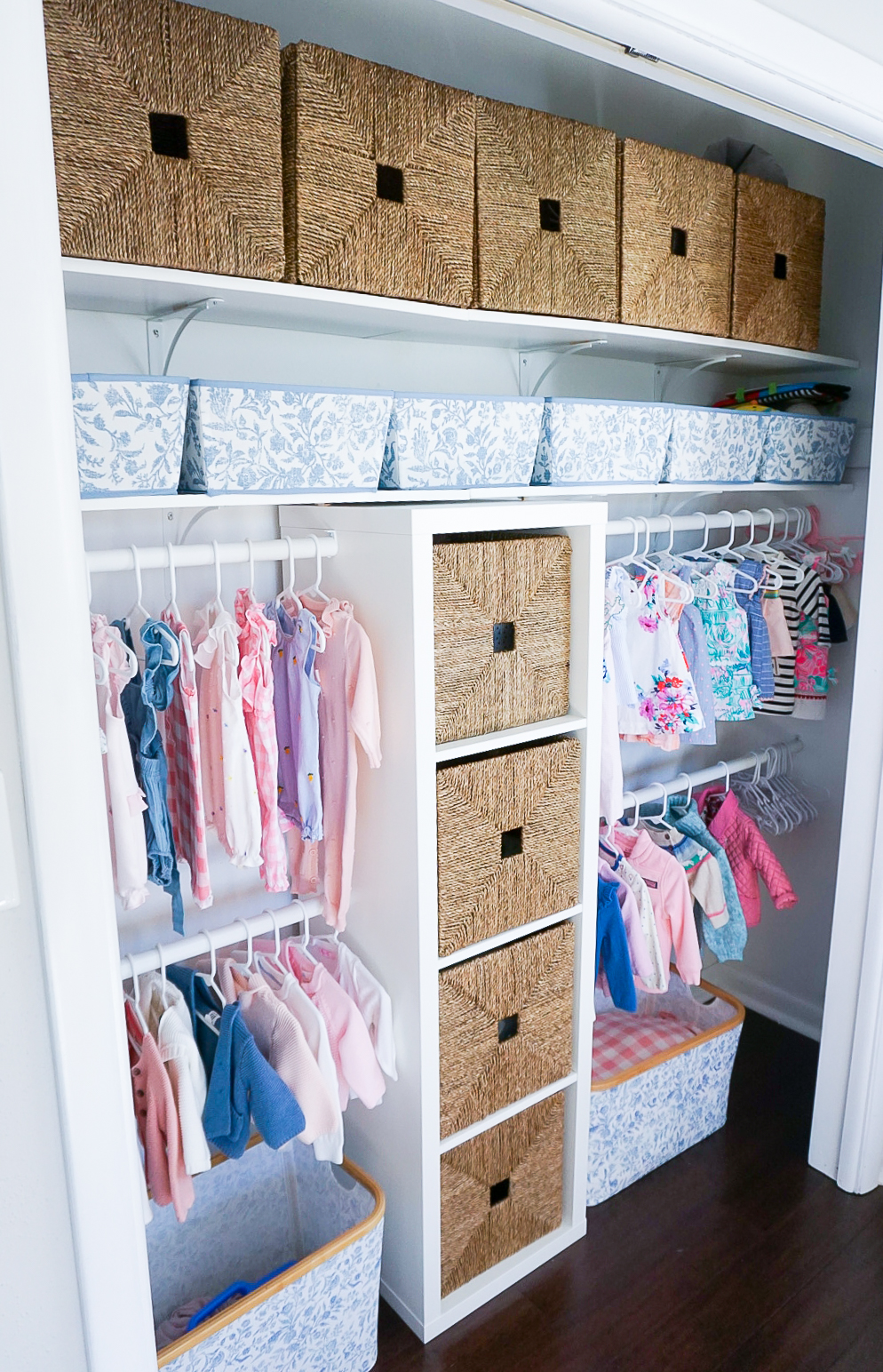 baby girl nursery closet, nursery closet 2020, nursery makeover 2020, preppy baby nursery