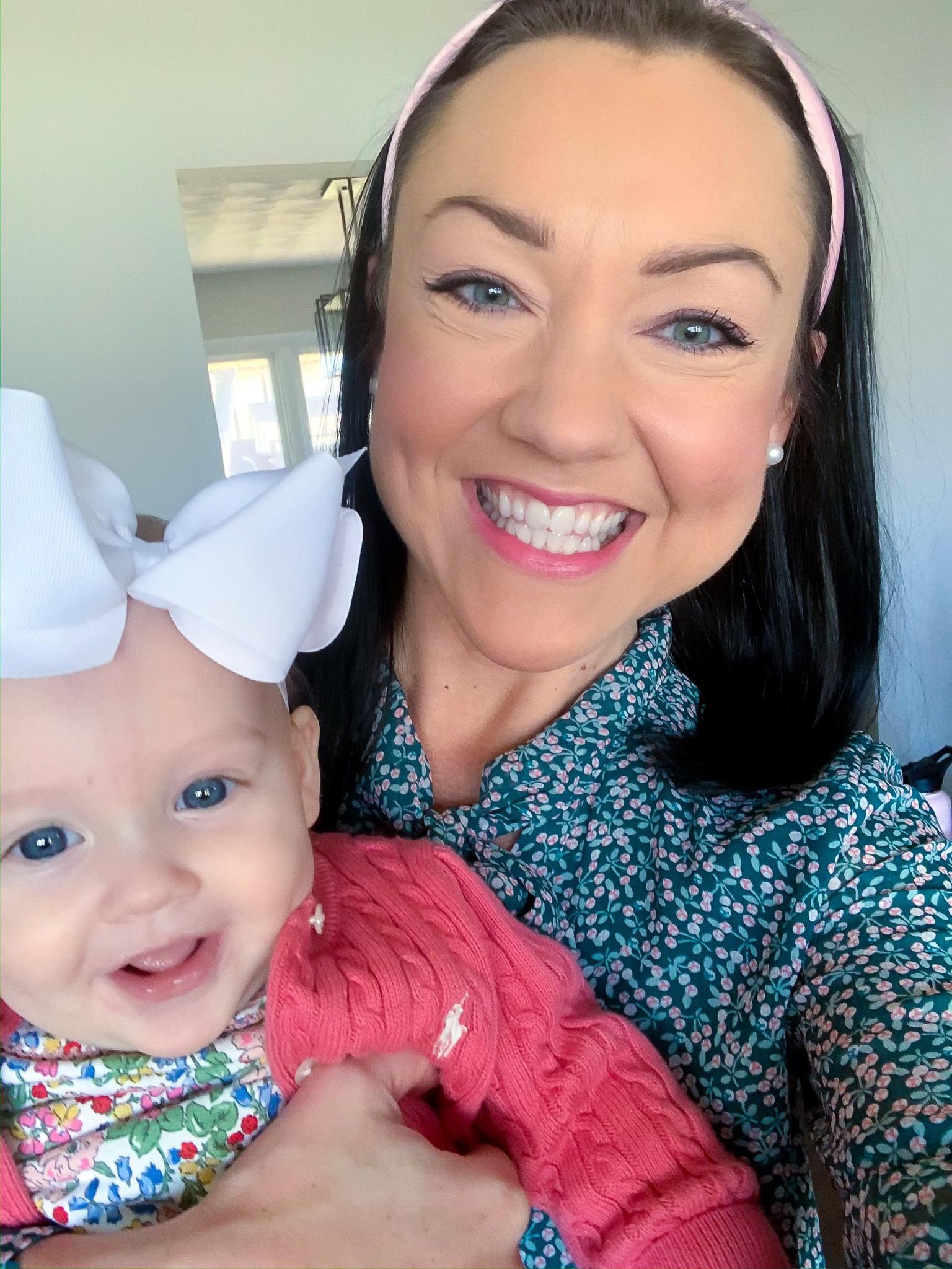 preppy blogger, preppy mom style, preppy baby girl, preppy baby clothing