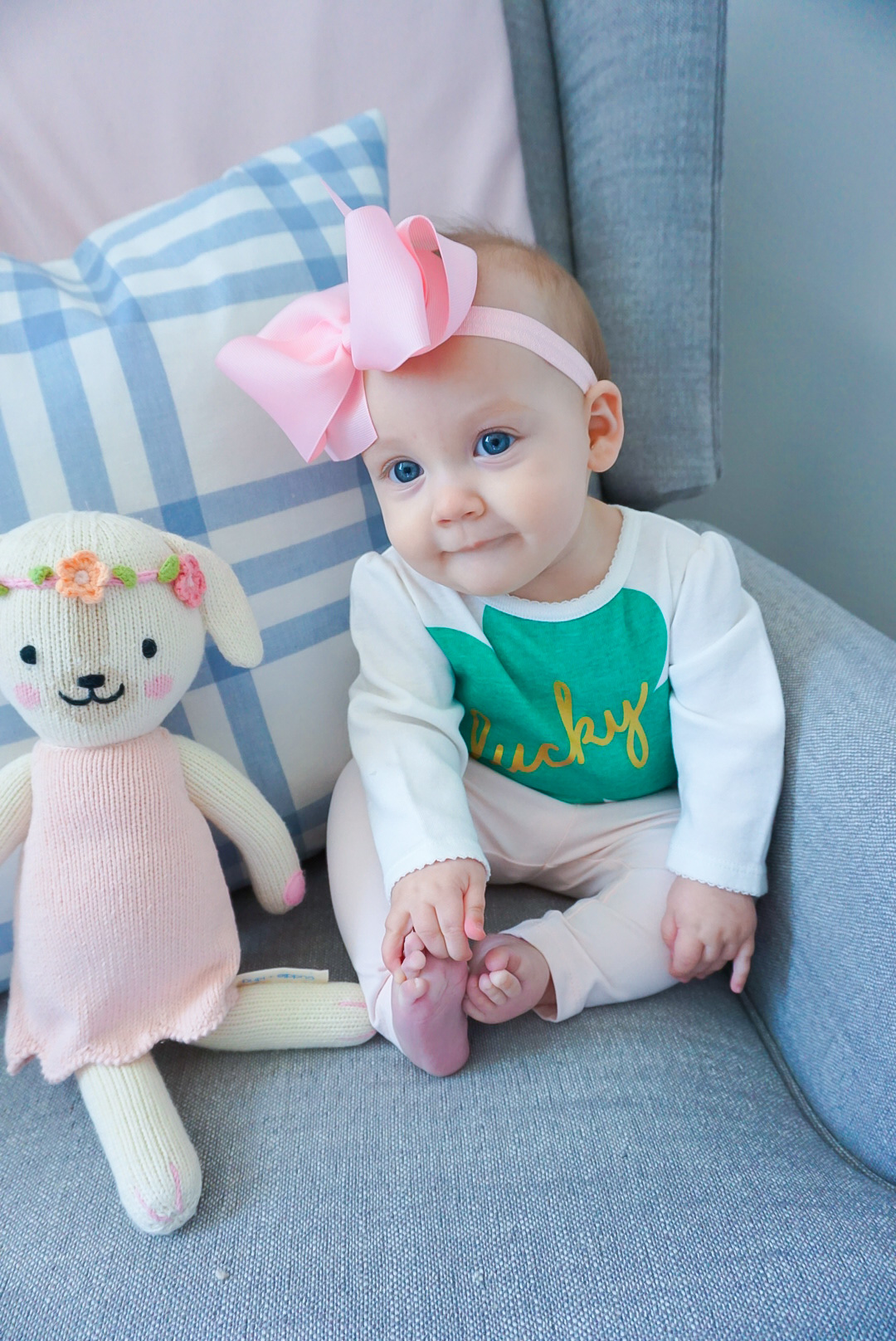 baby's first St. Patrick's Day, 9 month old baby blog, 9 month old baby schedule, baby blog 2020