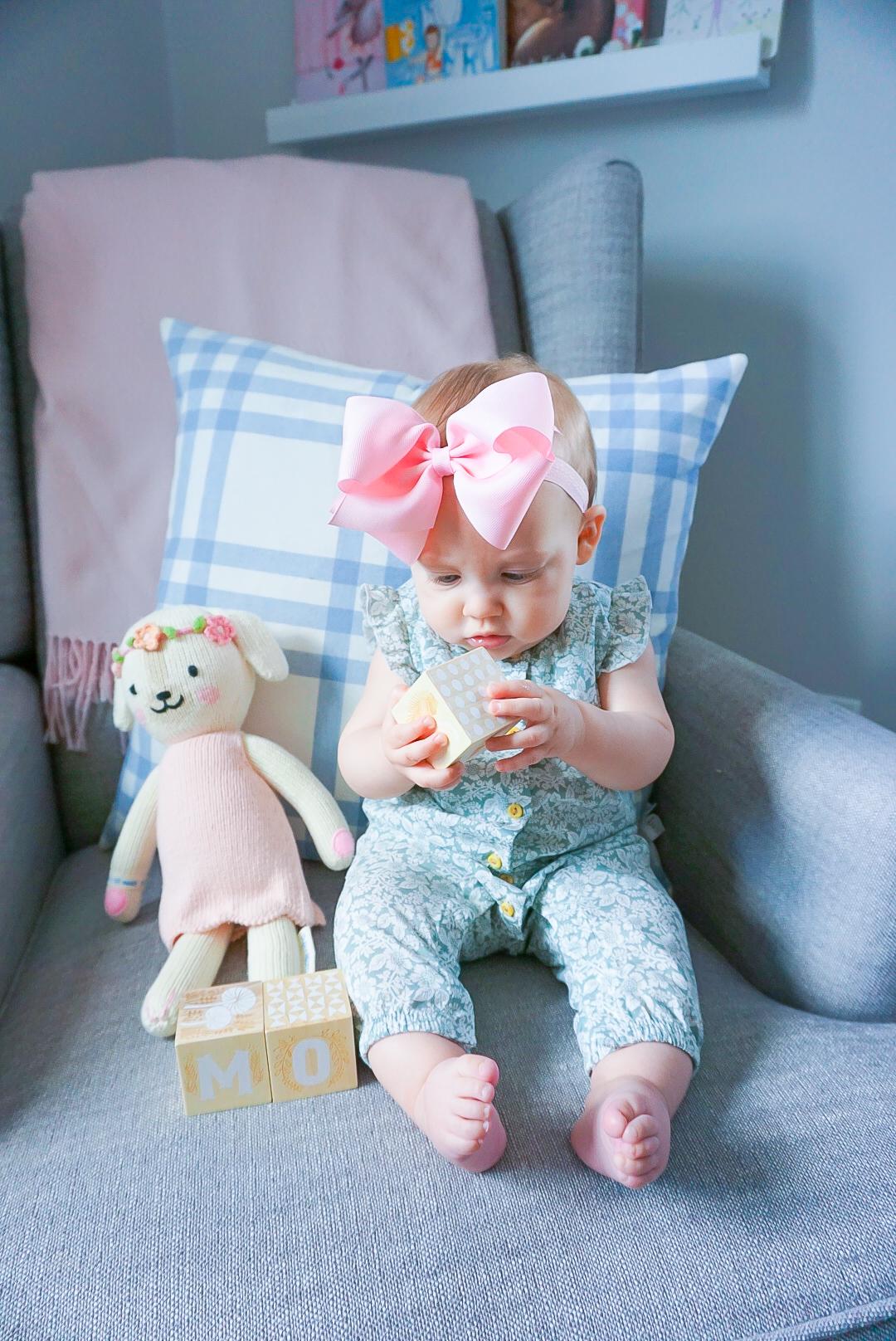 baby girl nursery, pink and blue nursery, preppy baby nursery, southern baby nursery