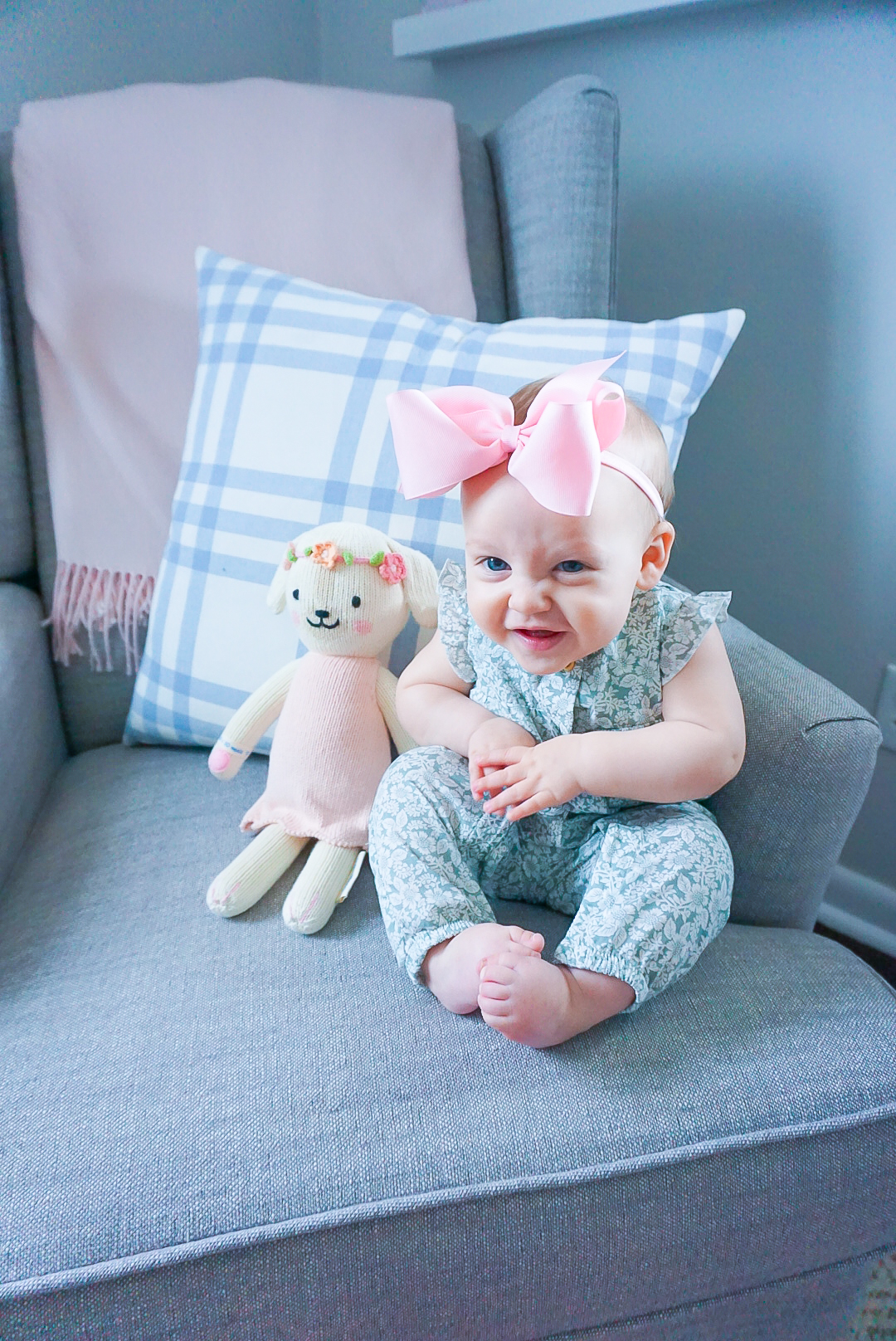 cuddle and kind charlotte dog, feminine baby girl clothing, preppy blogger