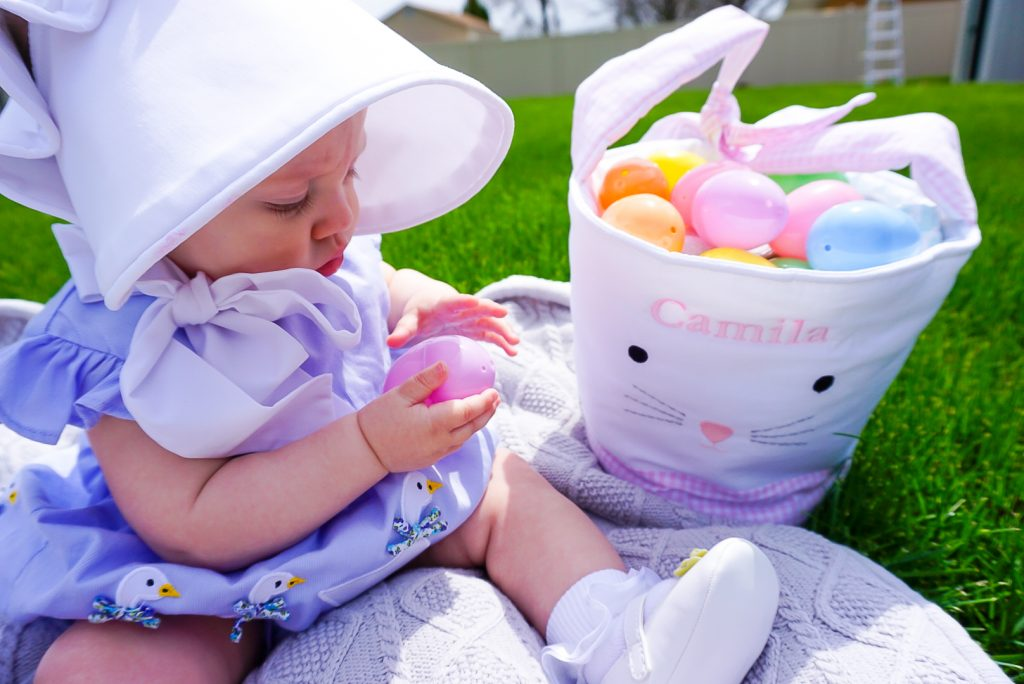 baby's first easter, pottery barn easter basket