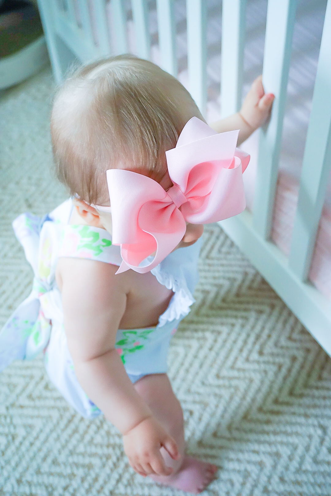 Wee Ones baby bows, Wee Ones mini king classic pink, large pink grosgrain baby bow
