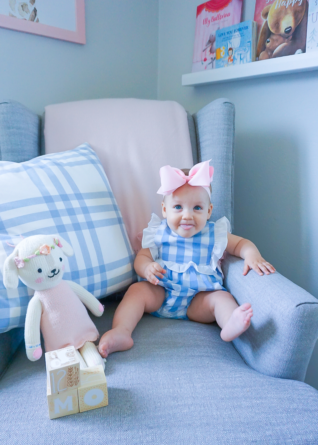 classic children's clothing 2020, classic baby nursery, pink and blue nursery, gingham baby clothing
