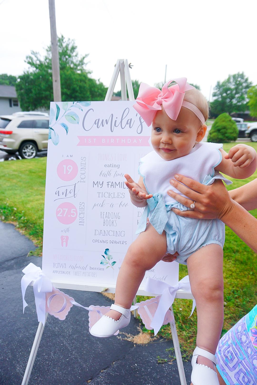 1 year milestone board, baby milestone board, floral milestone board, Storybook goods one banner