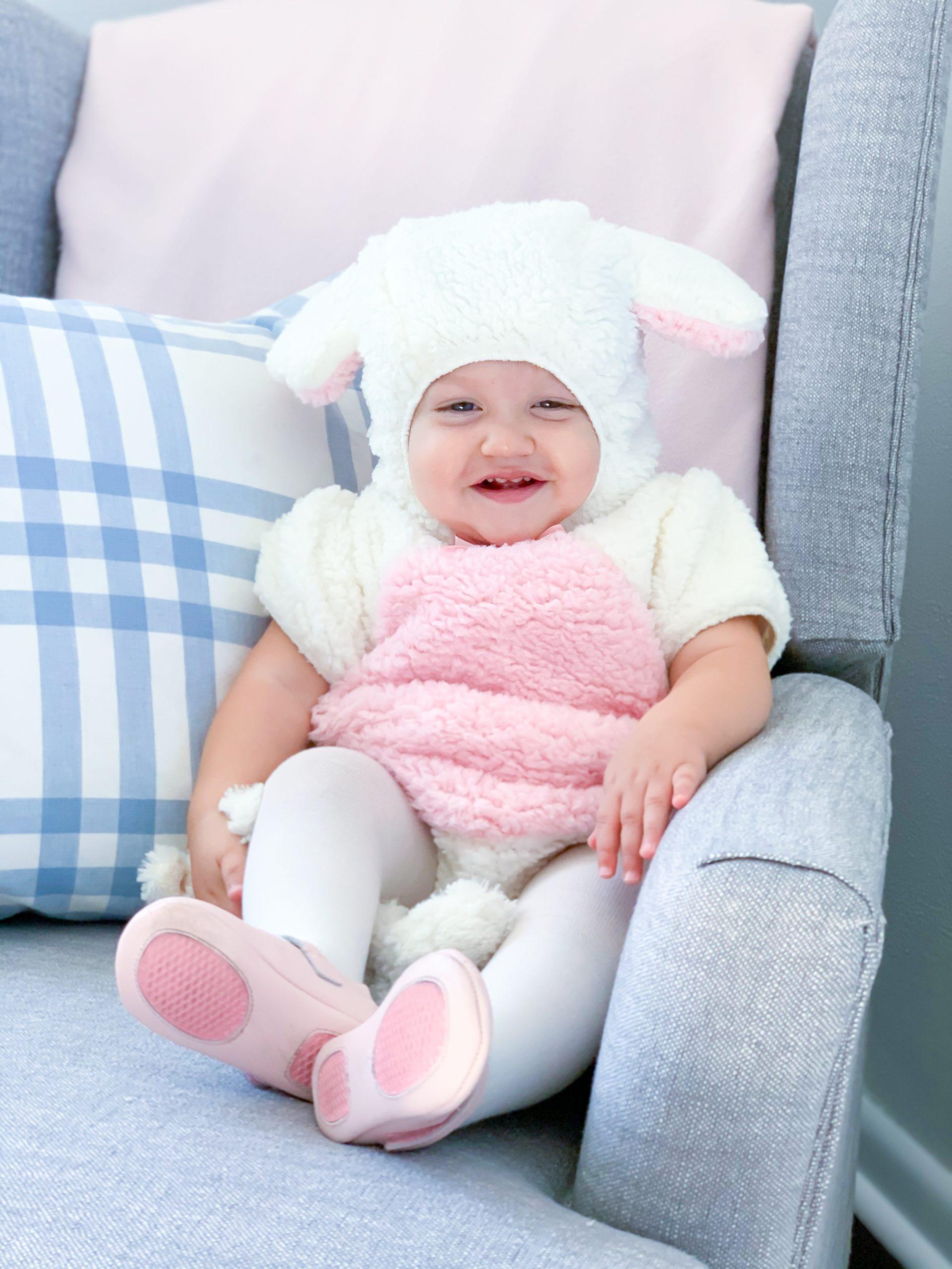 baby lamb costume, baby girl lamb costume