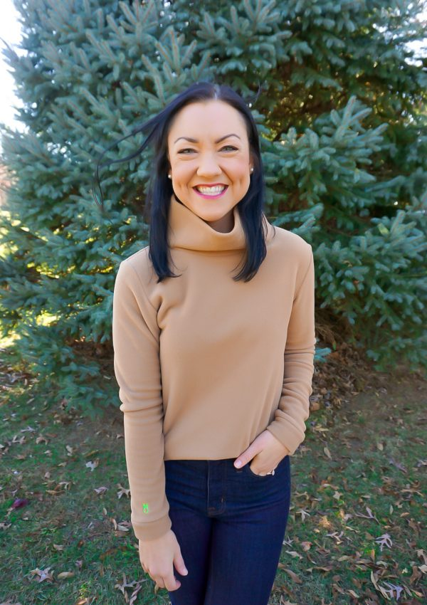 Meg Mason, Illinois blogger, Dudley Stephens camel turtleneck