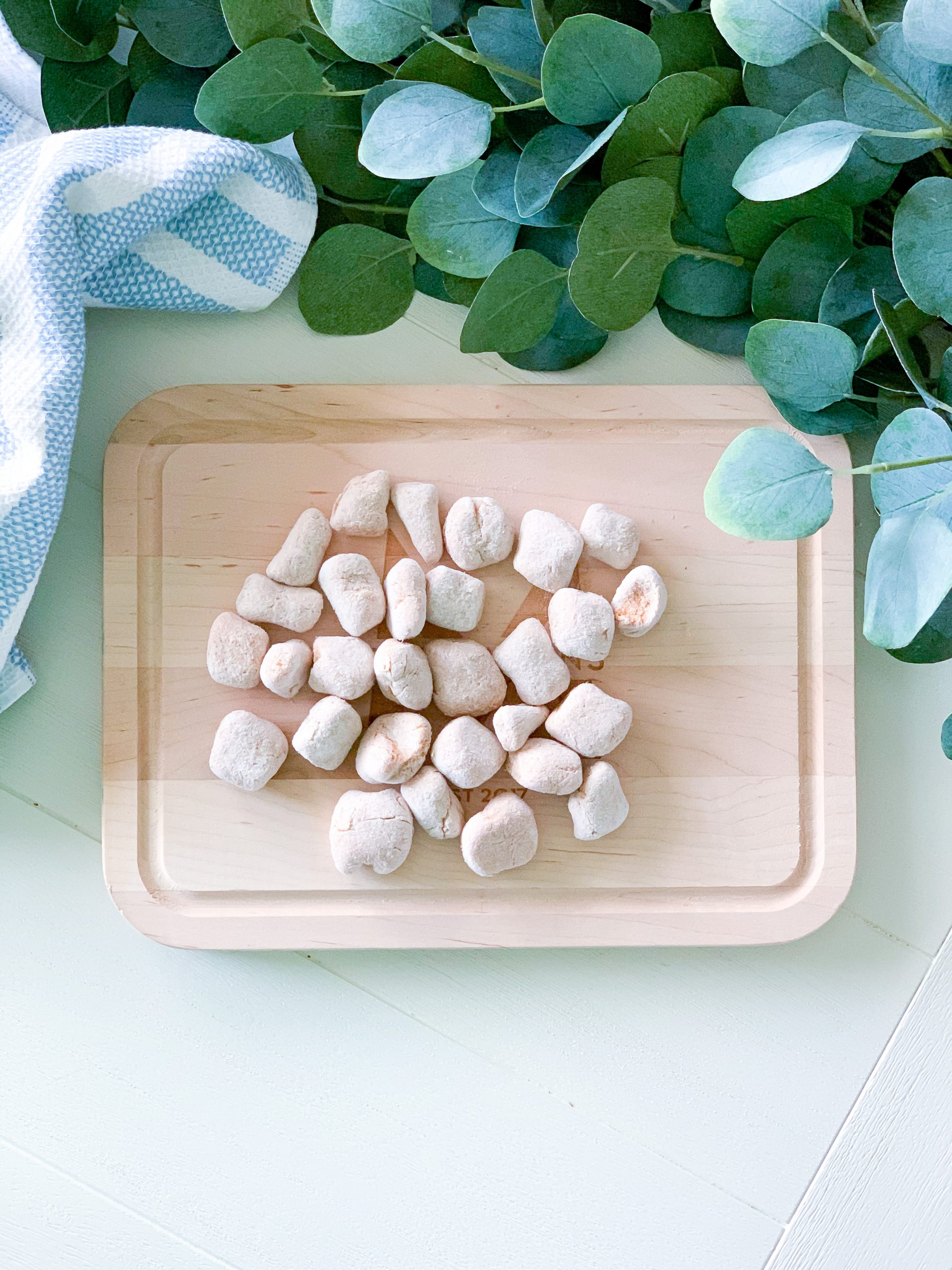 healthy sweet potato gnocchi, healthy family meals, clean living meals, dairy-free pasta, gluten free pasta recipe