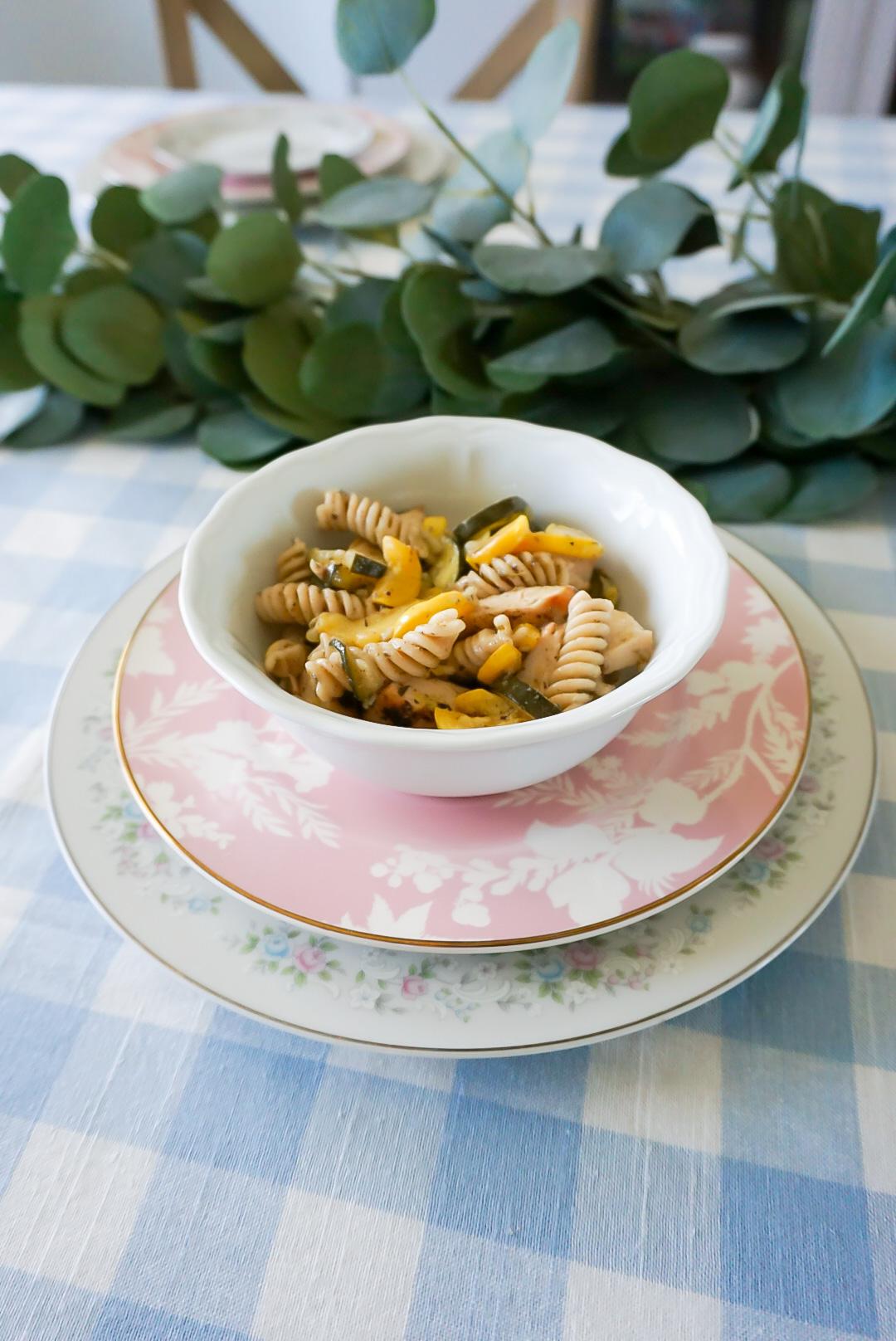 allergen-free pasta, allergen-free pasta recipe, dairy-free pasta, healthy Italian pasta recipe, light spring pasta recipe, garden vegetable pasta recipe