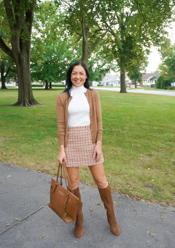 preppy fall outfit, fall skirt outfit